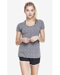 Express Exp Core Cut-Out Back Space Dyed Jersey Tee - Lyst