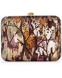 Judith Leiber Couture Multicolor Crystal-Embellished Evening Clutch Bag - Lyst