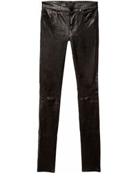 J Brand Leather Stack Skinny - Lyst