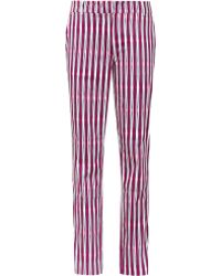 Reiss 1971 Olivia Tapered Stripe Trousers - Lyst
