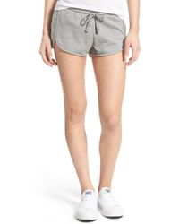 Volcom - 'lived In' Fleece Drawstring Shorts - Lyst