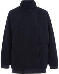 Denham - Blue Wave Knit Jacket - Lyst