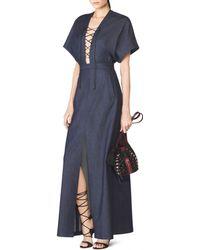 Tamara Mellon Long Kimono Dress blue - Lyst