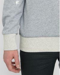 G-Star RAW | Mottled-grey Grount R Sw Raw Round-neck Sweatshirt | Lyst