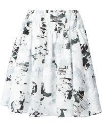 Jil Sander Pleated Skirt - Lyst