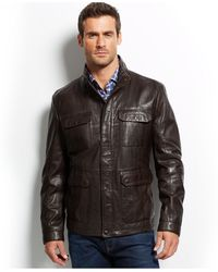 Hugo Boss Boss Glaver Leather Jacket - Lyst