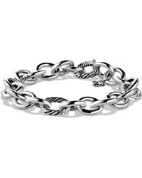 David Yurman - Round And Oval Link Bracelet - Lyst