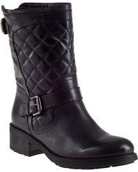 Aquatalia by Marvin K Sweetness Biker Boot Black Leather - Lyst