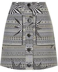Matthew Williamson Star Jacquard Mini Skirt - Lyst