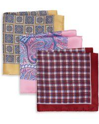 Burma Bibas - Printed Silk Pocket Square Gift Set - Lyst