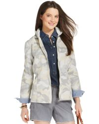 Tommy Hilfiger Cotton Camo Casual Jacket - Lyst