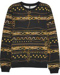 Versus  Printed Cottonjersey Sweatshirt - Lyst