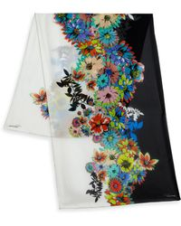 Roberto Cavalli   Flower Power Silk Stole   Lyst