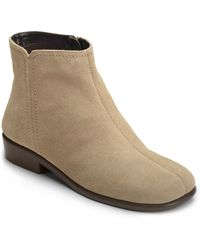 Aerosoles Duble Trouble Suede Booties - Lyst