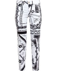 Versus  Abstract Print Jeans - Lyst