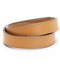 Ben Minkoff Brown Leather Bracelet - Lyst