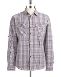 DKNY Checkered Sports Shirt - Lyst
