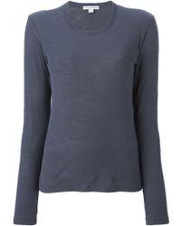 James Perse Round Neck T-Shirt - Lyst