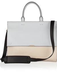 Victoria Beckham Two-tone Leather Tote - Lyst