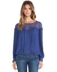 Catherine Malandrino Iona Pleated Blouse - Lyst