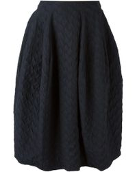 Hache Textured Mid-Length Skirt - Lyst