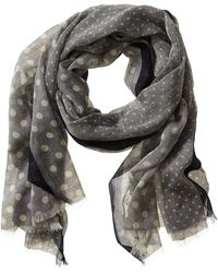 Banana Republic Dot Print Scarf Chambray - Lyst