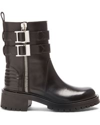 Givenchy Leather Biker Boots - Lyst