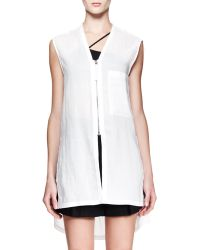 Helmut Lang Wire Sleeveless Zip Tunic Top - Lyst