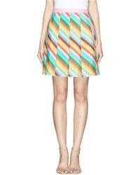 Valentino Rainbow Stripe Silk Chiffon Skirt - Lyst
