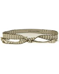 Etoile Isabel Marant Upper Bi-Colour Carpet Belt - Lyst