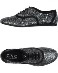 C'N'C Costume National Low-Tops & Trainers silver - Lyst