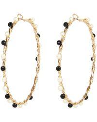 River Island Gold Tone Twisted Hoop Earrings - Lyst