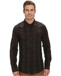Calvin Klein Multiplaid Long Sleeve Woven Shirt - Lyst