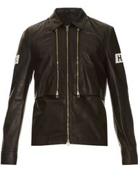 Hood By Air - Point-collar Leather Jacket - Lyst