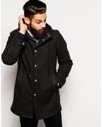 Fidelity Hooded Coat In Wool - Lyst