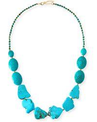 Panacea Long Turquoise Stone Necklace - Lyst