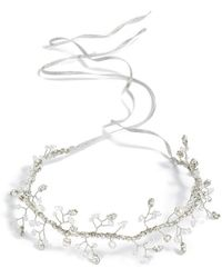 Nestina Accessories - 'anis' Crystal Vine Bridal Head Piece - Metallic - Lyst