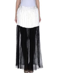 Haider Ackermann White Long Skirt - Lyst