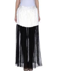 Haider Ackermann White Long Skirt - Lyst