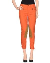 Ralph Lauren Casual Trouser orange - Lyst