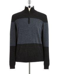 Calvin Klein Colorblock Half-zip Sweater - Lyst