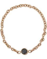Minor Obsessions Black Diamond Gold Chain Ring - Lyst