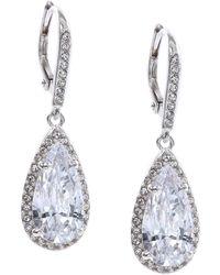 Judith Jack - Sterling Silver Cubic Zirconia Teardrop Earrings - Lyst