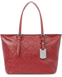 Longchamp Lm Cuir Shoulder Bag in Carmin Carmin - Lyst