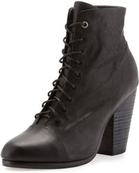 Rag & Bone Miles Laceup Ankle Boot Black - Lyst