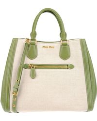 Miu Miu Medium Fabric Bag - Lyst