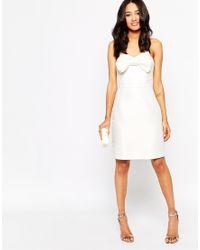 True Decadence | Bandeau Bodycon Dress With Bow | Lyst