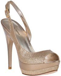 Pelle Moda Gleam Evening Sandal Gold Glitter - Lyst