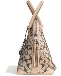 Coach Bleecker Preston Satchel in Printed Signature Fabric - Lyst