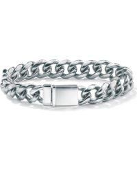 Palmbeach Jewelry - Men's 13 Mm Curb-link Bracelet In Stainless Steel 8'' - Lyst
